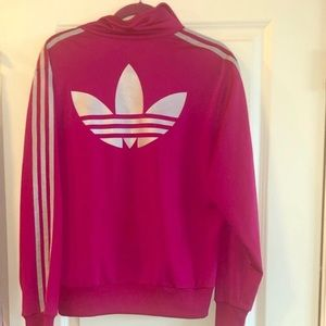 Adidas Track Jacket in Hot Pink
